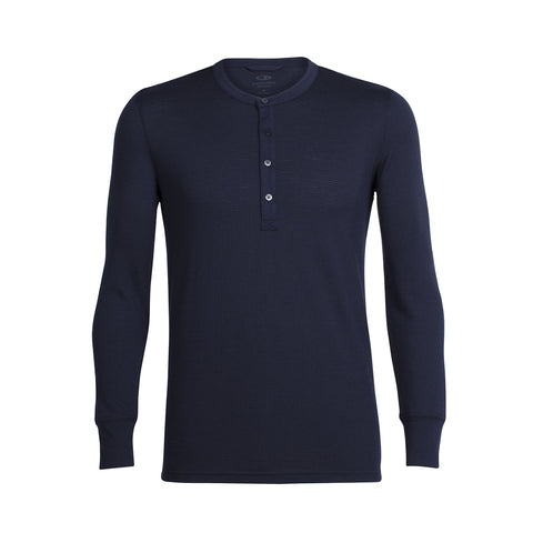 Icebreaker Chandail à manches longues Trailhead Henley Homme