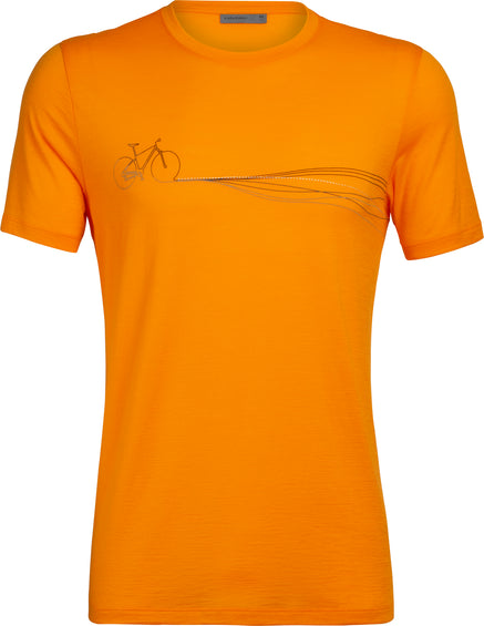 Icebreaker Tech Lite Short Sleeve Crewe Cadence Paths - Men's