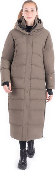 Indygena Vanamo Extra Long Down Blend Coat - Women's