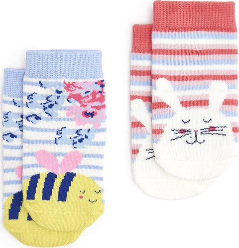Joules Girl 2 pack Neat feet Socks - Baby's