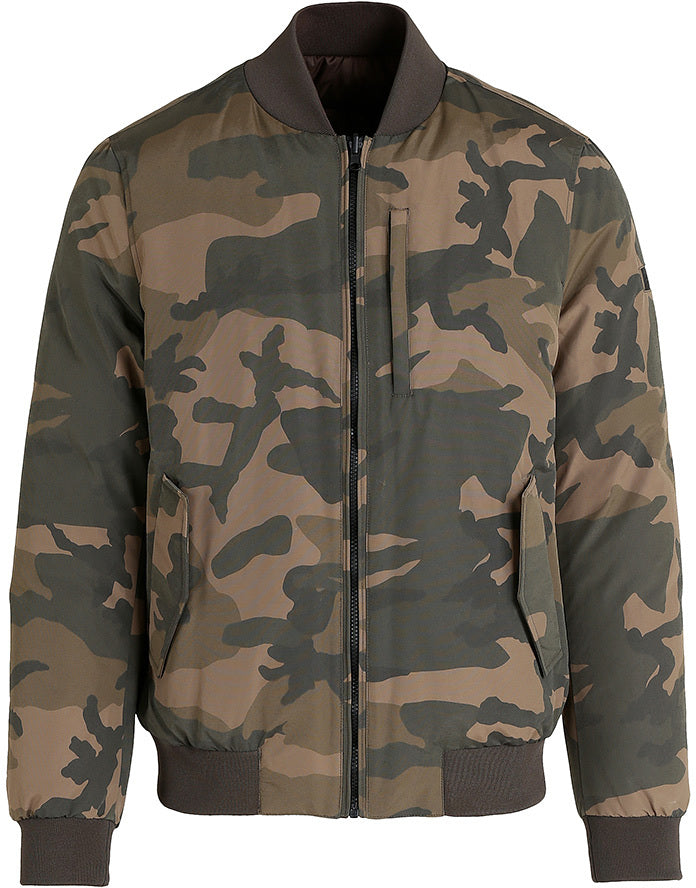 532f9b9bf Camo reversible Bomber Down Jacket - Men's