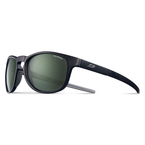Julbo Resist Sunglasses - Black-Grey Frame - Polarized 3 Vert G15 Lens