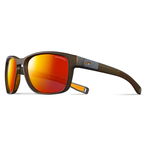 Julbo Paddle Sunglasses - Translu Army-Orange - Polarised 3CF Smoke Multilayer Red Lens