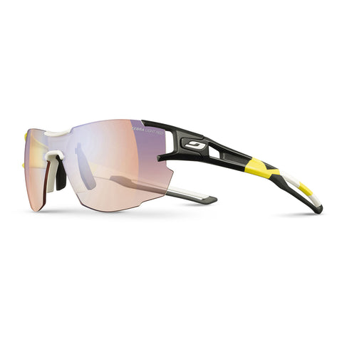 Julbo Aerolite Pro Sunglasses - Og Yellow-White-Black - Yellow-Brown Multilayer Blue Zebra Light Red Lens