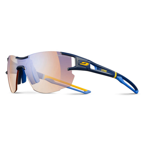 Julbo Aerolite Pro - Utmb Dark Blue-Blue-Yellow - Buff Yellow-Brown Multilayer Blue Zebra Light Red Lens