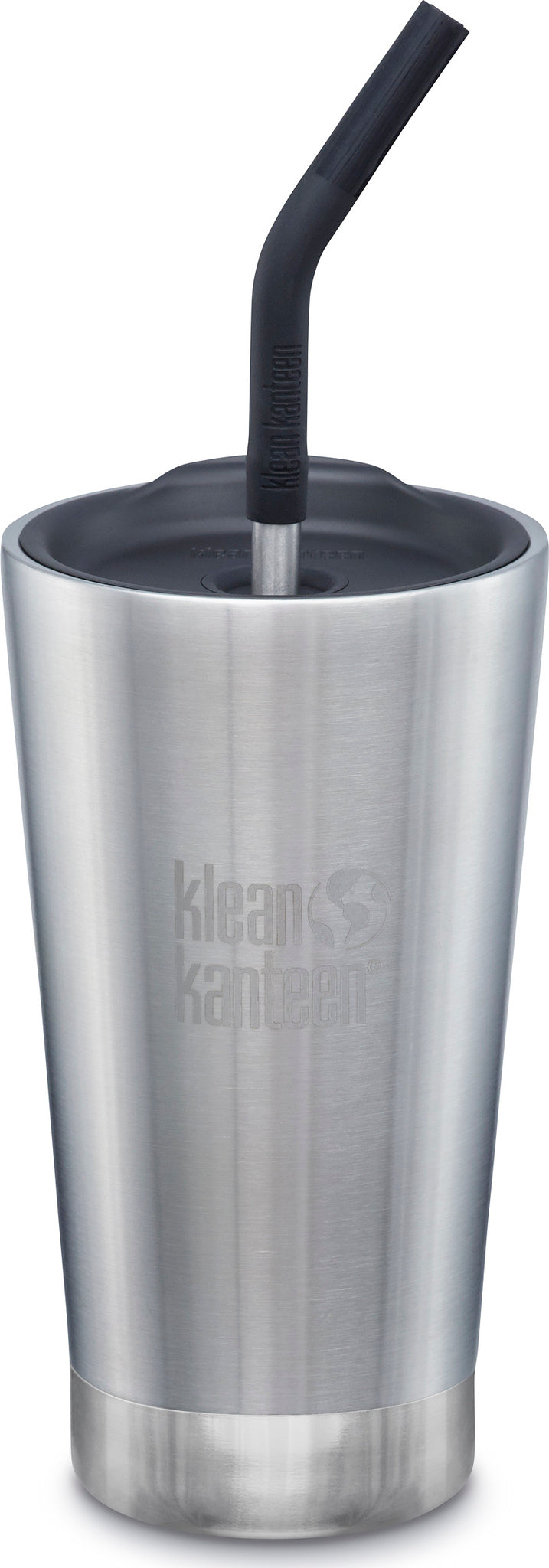 23e01f52a2c Klean Kanteen Insulated Tumbler 16oz - Straw Lid and Straw Brushed  Stainless ...