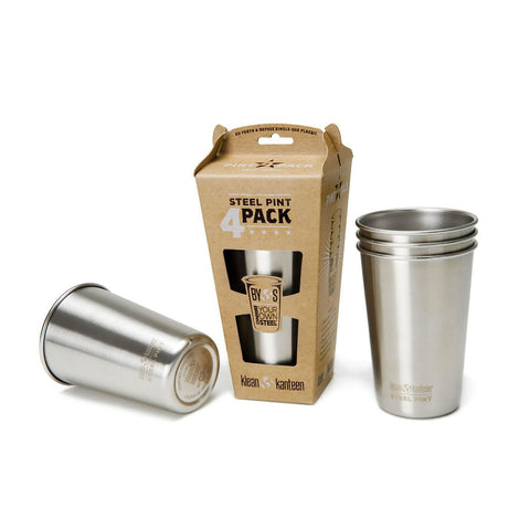 Klean Kanteen 16 oz Kanteen Steel Pint - 4 Pack