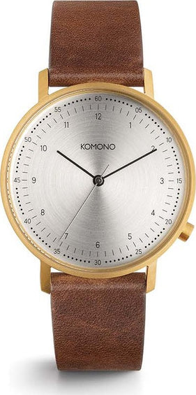 Komono Lewis Saddle Brown Watch