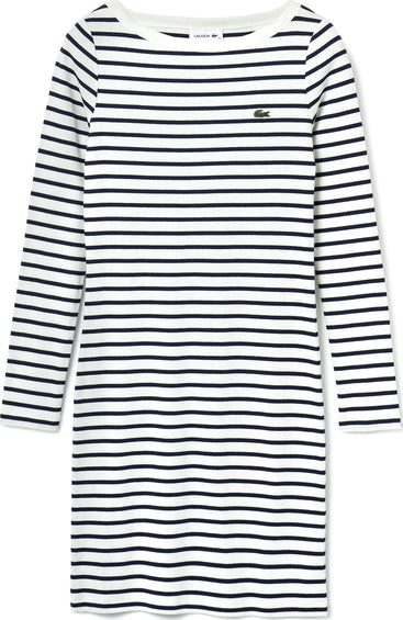 Lacoste Nautical Ribbed Cotton Dress - Women's