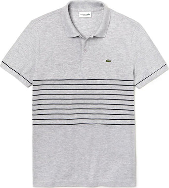 9014b2548c9e lazy-loading-gif Lacoste Polo regular fit Lacoste Made in France en petit  piqué - Homme Argent Chine -