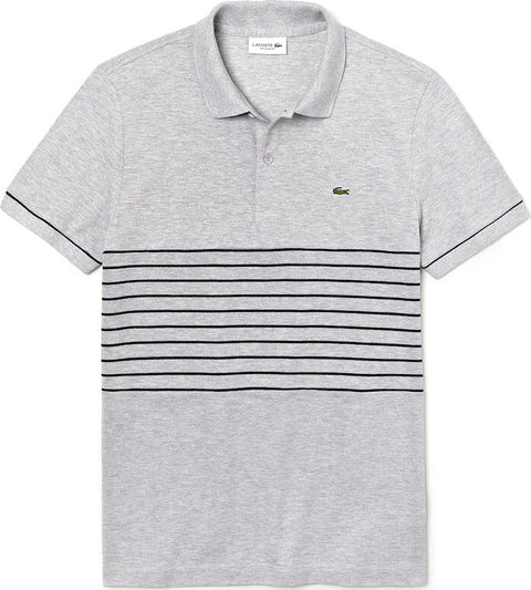 Lacoste Lacoste MADE IN FRANCE Striped Cotton Petit Piqué Polo Shirt - Men's