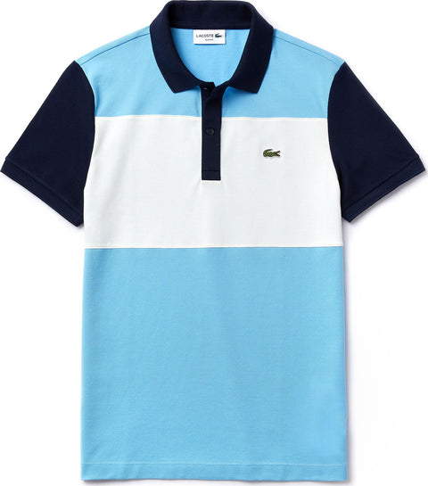 Lacoste Polo de coupe ajustée en piqué stretch Color-Block - Homme
