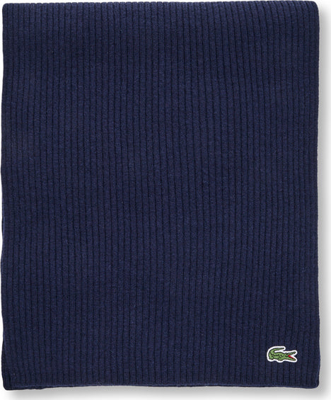 Lacoste Lacoste Ribbed Rectangular Wool Scarf - Men's