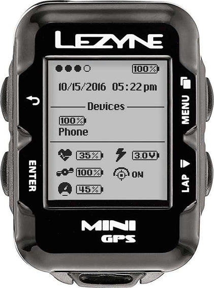 Lezyne Lezyne, Mini GPS, Computer, GPS: Yes, HR: Optional, Cadence: Optional, Black