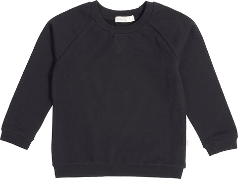 Miles Baby Miles Basic Black Crew Neck Sweater - Kids