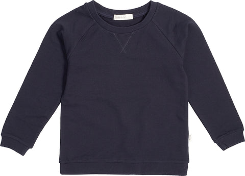 Miles Baby Miles Basic Navy Crew Neck Sweater - Kids
