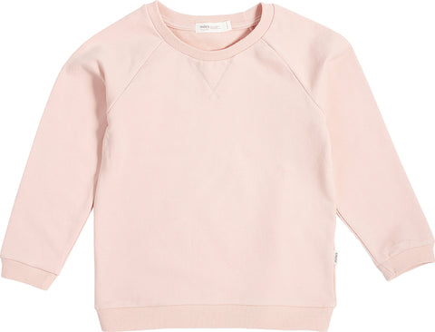Miles Baby Miles Basic Light Pink Crew Neck Sweater - Kids