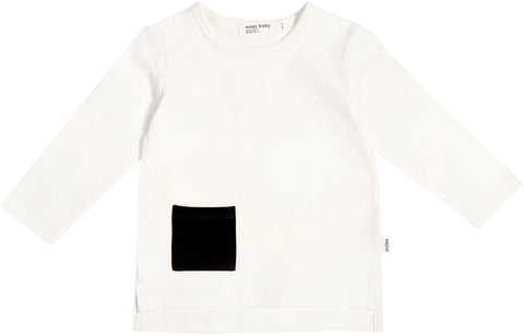 Miles Baby Miles Basic White Long Sleeve T-Shirt - Kids