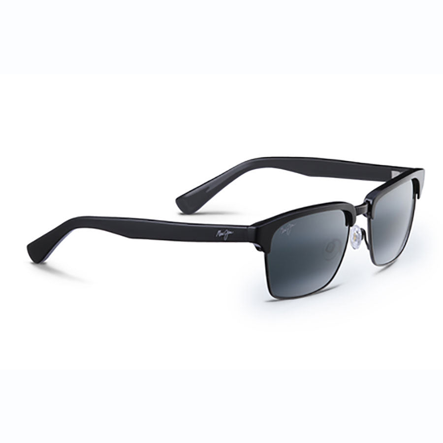2b0a2cad36c Maui Jim Kawika Black Gloss With Antique Pewter - Neutral Grey Lens ...