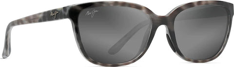 Maui Jim Honi Polarized Cat Eye Sunglasses - Neutral Grey Lens - Grey Tortoise Stripe Frame
