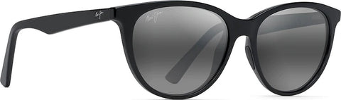 Maui Jim Cathedrals Polarized Classic Sunglasses - Neutral Grey Lens - Black Gloss Frame