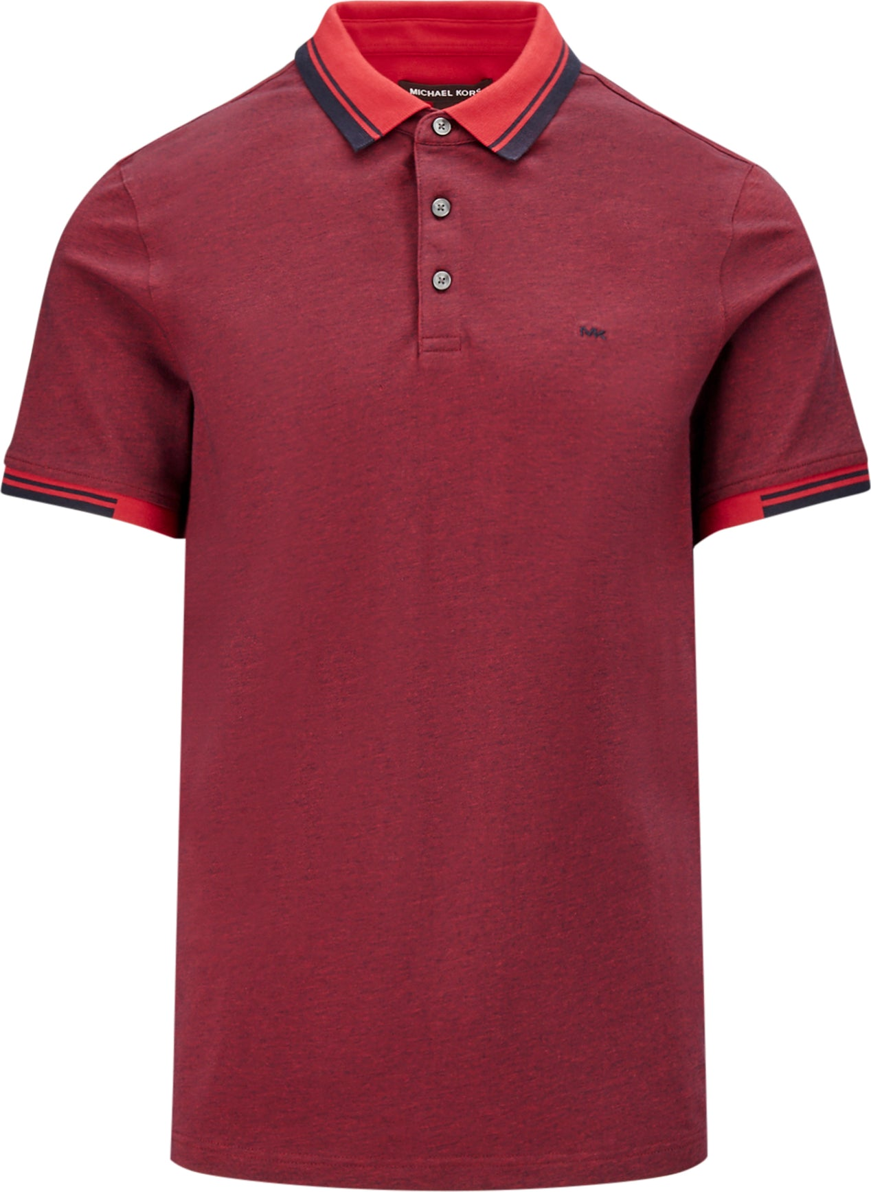 eeff183f4856f8 ... Michael Kors Greenwich Stretch-Cotton Polo Shirt - Men's Winter Red ...