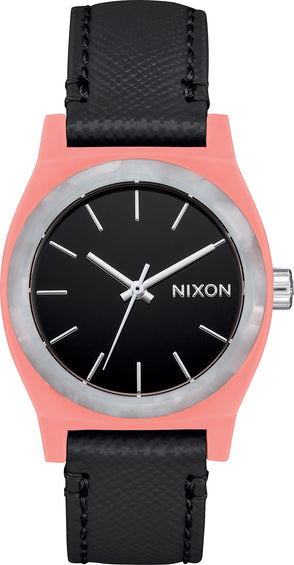Nixon Montre en cuir Medium Time Teller - Femme