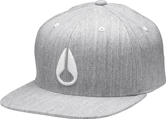8926afdf5 lazy-loading-gif Nixon Deep Down FF Athletic Fit Hat - Men's Heather Gray -  White