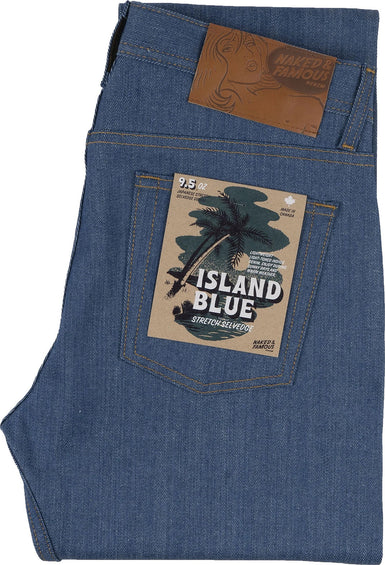 Naked & Famous Jeans Weird Guy - Island Blue Stretch Selvedge - Homme