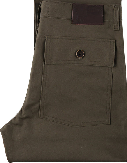 Naked & Famous Work Pant - Green Canvas - Men's