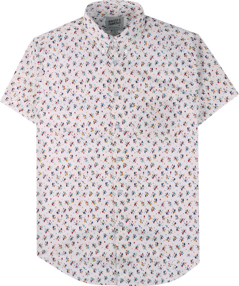 Naked & Famous Short Sleeve Easy Shirt - Vintage Mod Print - Men's