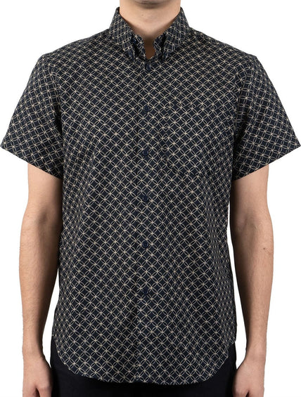 Naked & Famous Short Sleeve Easy Shirt - Kimono Circles - Men's