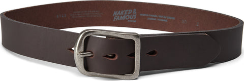 Naked & Famous Thick 7mm Leather Belt - Men's