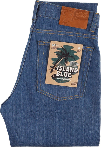 Naked & Famous Max Jeans - Island Blue Stretch Selvedge - Women's