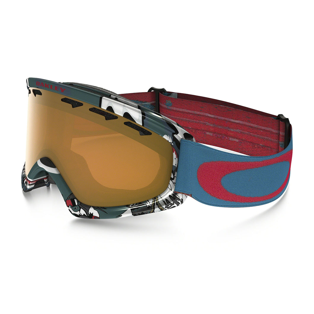OAKLEY - O-Frame 2.0 XS - Shady Trees Blue Red - Persimmon Lens ...