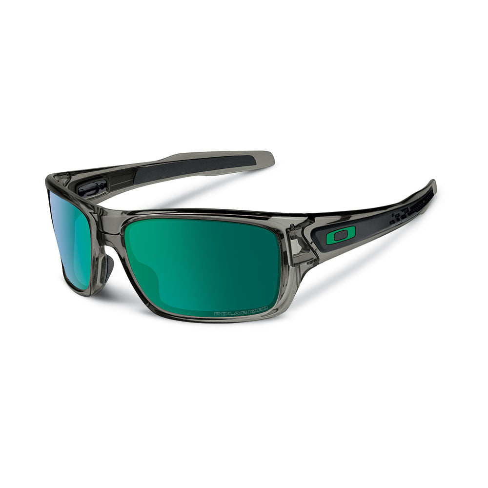 2989dabf48209 Oakley Turbine - Grey Smoke - Jade Iridium Polarized Lens Sunglasses ...