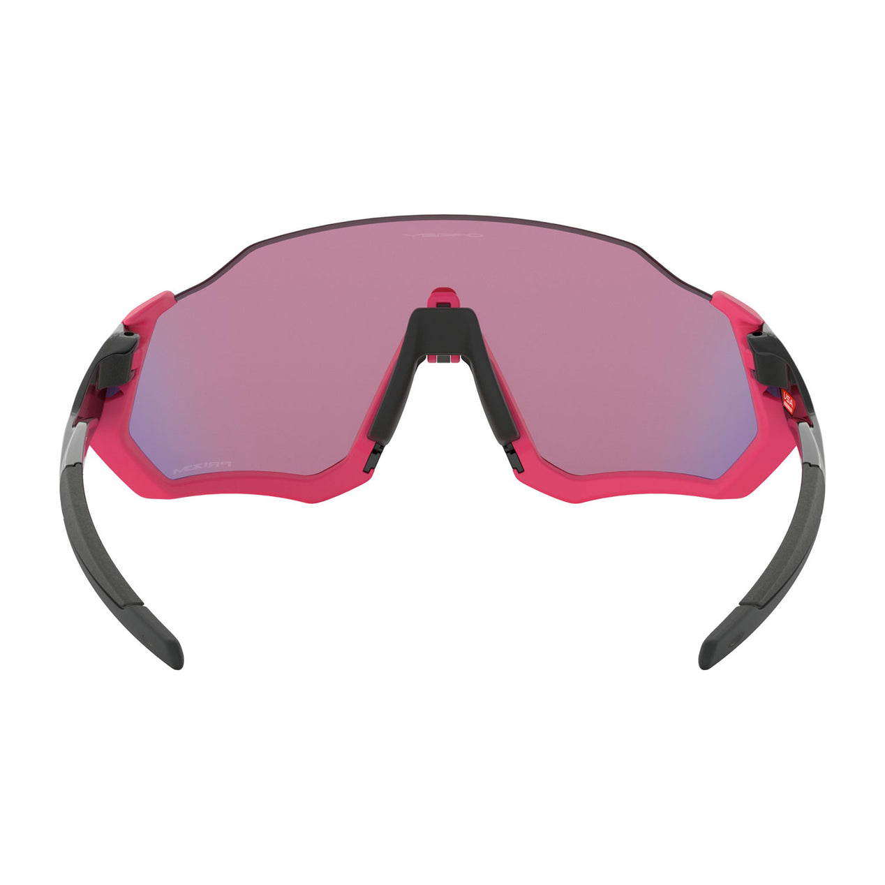 cf621dc5dd ... Flight Jacket - Polished Black Neon Pink - Prizm Road Lens Sunglasses  thumb ...