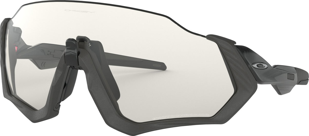ce0b681f32dc4 Oakley Flight Jacket - Scenic Grey Matte Steel - Clear to Black Iridium  Photochromic Lens Sunglasses