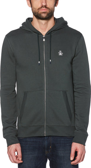 Original Penguin Sticker Pete Fleece Full Zip Hoodie - Men's