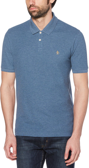 Original Penguin Heathered Daddy Polo 2.0 Pique Short Sleeve Polo Shirt - Men's