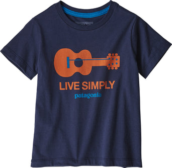 689bf492 Loading spinner Patagonia Live Simply Organic T-Shirt - Baby's Live Simply  Guitar - Neo Navy