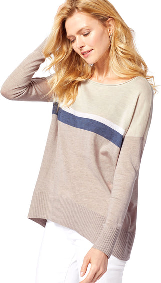 Pendleton Long Sleeve City Block Merino Pullover - Women's