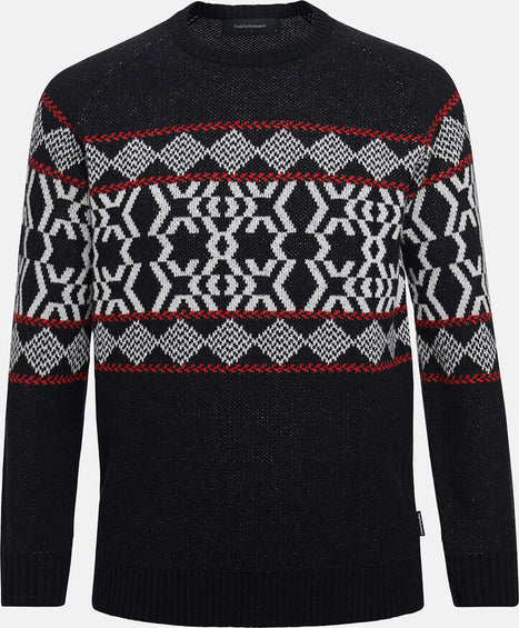 Peak Performance Moment Jacquard Crew Sweater - Men's