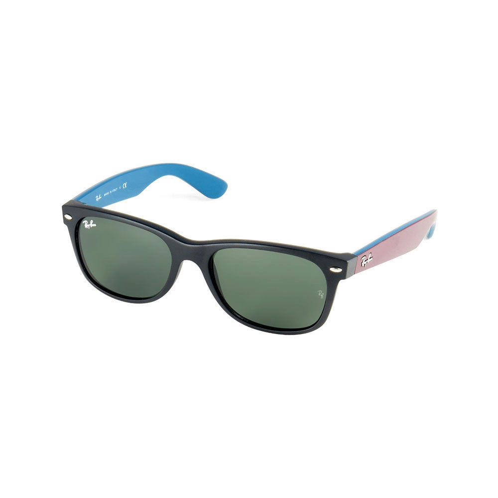 2e9f5b3e40 Ray-Ban New Wayfarer Bicolor - Matte Black  Burgundy Blue Frame - Green Lens