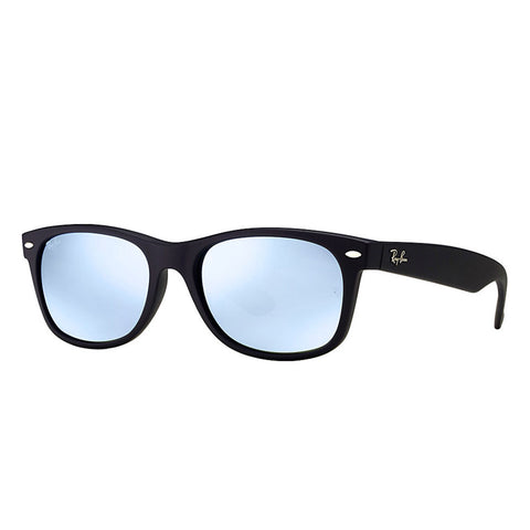 Ray-Ban New Wayfarer Flash - Matte Black Frame - Silver Lens