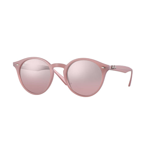 Ray-Ban RB2180 - Pink Frame - Silver/Pink Gradient Mirror Lens