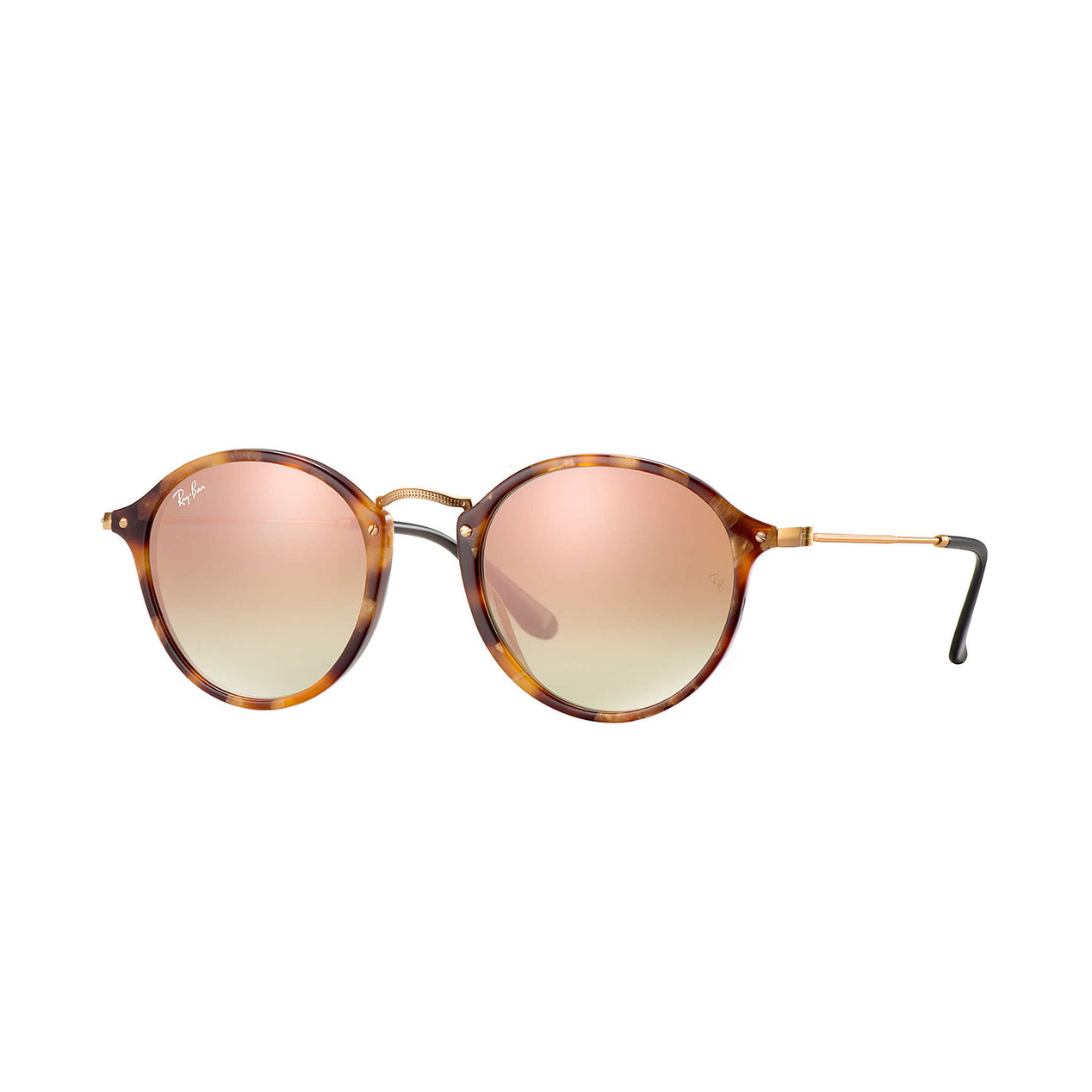 bd426ad3eb Ray-Ban Round Fleck Sunglasses - Tortoise Black Frame - Copper Gradient  Flash Lens