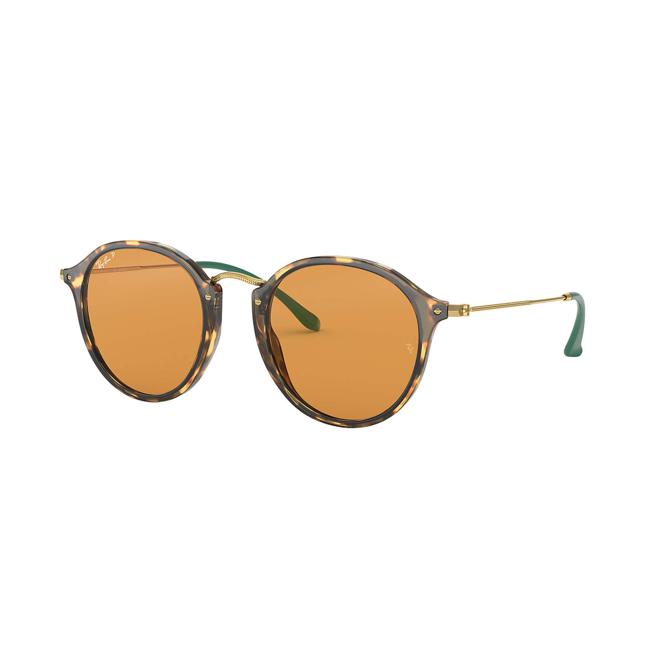 a0fd1d971b Ray-Ban Round Fleck Sunglasses - Tortoise Gold Frame - Yellow Classic  Polarized Lens