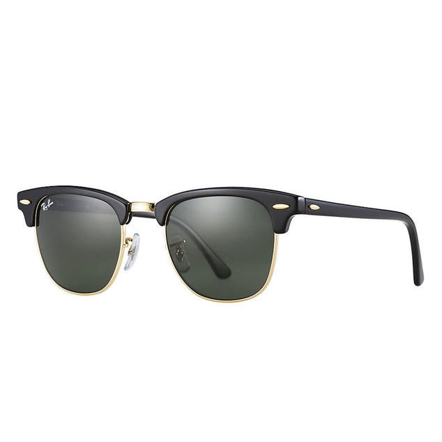 Ray-Ban Clubmaster Classic - Monture Black - Lentille Green Classic G-15No Color