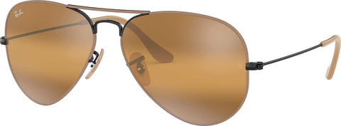 Ray-Ban Aviator Mirror - Light Brown-Black - Yellow Gradient Mirror (Small)